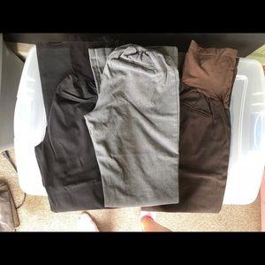 Maternity dress pants Lot